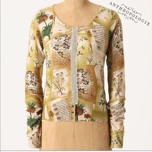 Anthropologie Guinevere Horticultural Cardigan